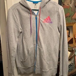 Adidas zip up hoodie. Size L